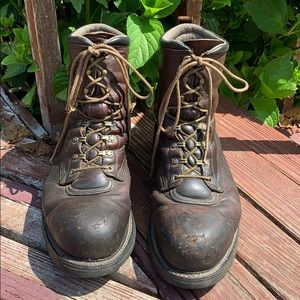 Red Ring Work Boots Steel Toe 13 / 2264 Wide